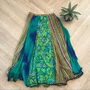Soft Surroundings Maxi Skirt Boho Festival (M)